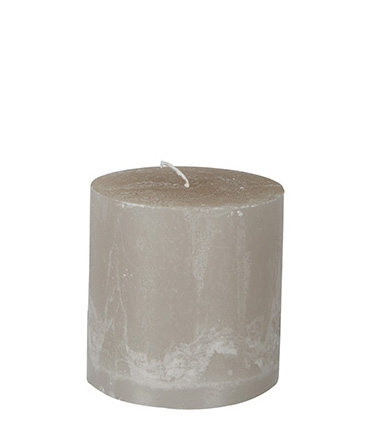 Blockljus COTÉ NORD Light Grey Ø10XH10CM 60H