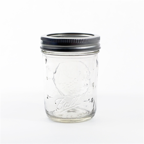 GLASBURK BALL MASON JAR HALF PINT SIZE