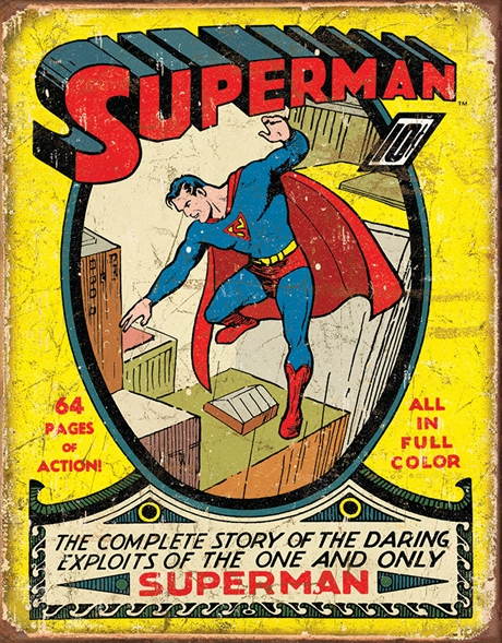PLÅTSKYLT SUPERMAN NO1 COVER