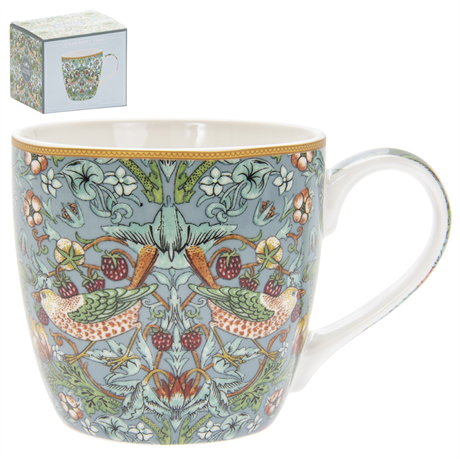 STOR FRUKOSTMUGG I BOX I WILLIAM MORRIS STRAWBERRY THIEF