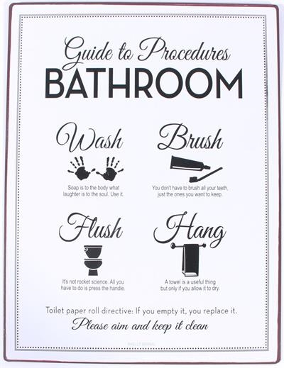 PLÅTSKYLT GUIDE TO PROCEDURES BATHROOM