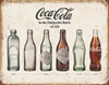 Plåtskylt Coca Cola Bottle Evolution