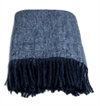 Pläd Mohair - Marin Blue & Light Blue Melange